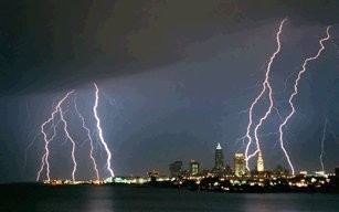 Strong thunderstorms moved through Northeast Ohio Monday night and early Tuesday morning.