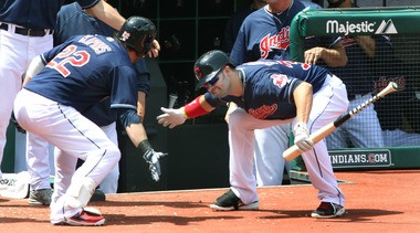 First-inning homers by Nick Swisher (left) and Jason Kipnis (right) are just another example of the fun being seen during Indians games so far this season.