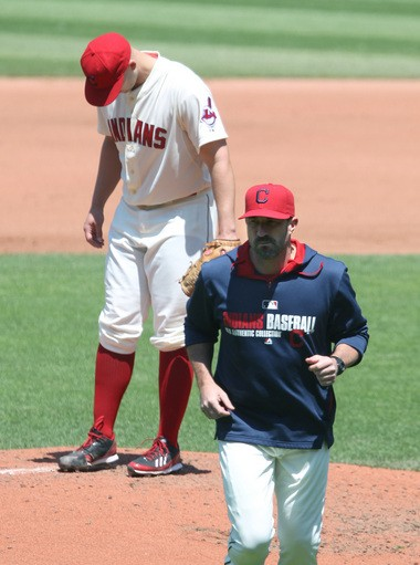 It's been a long season for Justin Masterson, who has a 5.03 ERA and a sore knee.