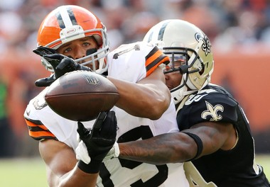 Miles Austin caught three passes for first downs on the Browns final drive in the New Orleans game.