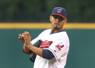 With eight victories, Carlos Carrasco had the second most wins on the staff.
