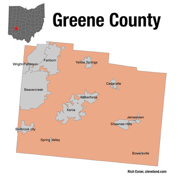 Greene County is just east of Dayton.
