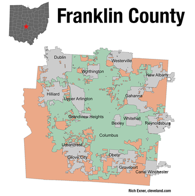 Franklin County has moved toward Democratic candidates over the years.