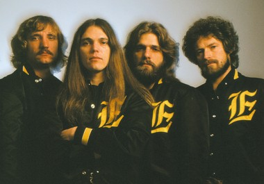 The Eagles as they appeared in 1977. From left are Joe Walsh, Timothy B. Schmit, Glenn Frey and Don Henley, the core group of the band,