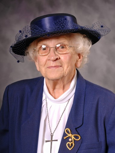 Ellen Guenther, in one of her many hats.