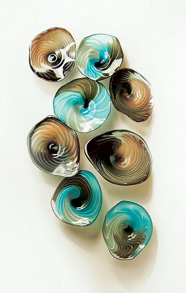 Art glass designer Doug Frates wants his clients to have fun with his creations, including this Splashbowl piece.