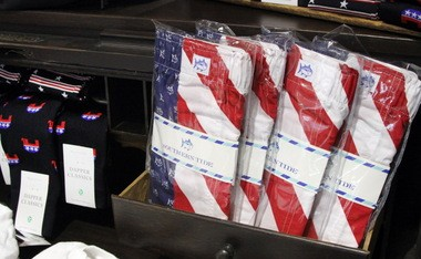 Geiger's has patriotic necessities like boxers and RNC socks for men.