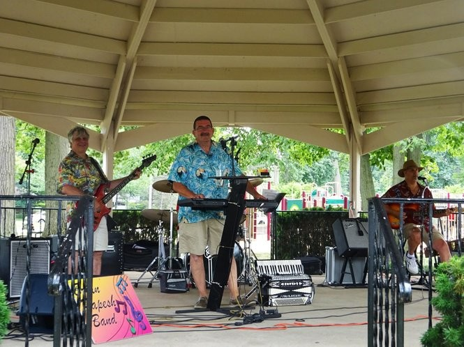 The Brian Papesh Band entertained River Days attendees on July 14 from the gazebo.