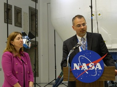 """""""It's been a great partnership for us with SpaceX,"""" says NASA Glenn Research Center director James Free, who visited Glenn's Plum Brook testing complex with NASA deputy administrator Lori Garver. """"We look forward to . . . finding new ways to work together."""""""