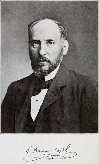 Spanish neuroscientist Santiago Ramn y Cajal