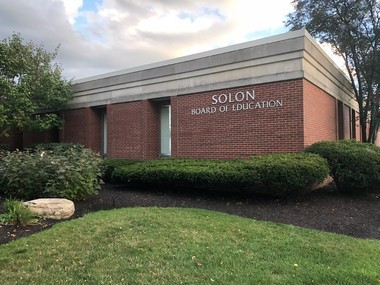 Solon's Board of Education building. Solon has led all Ohio school districts in an academic performance ranking in each of the last four school years.