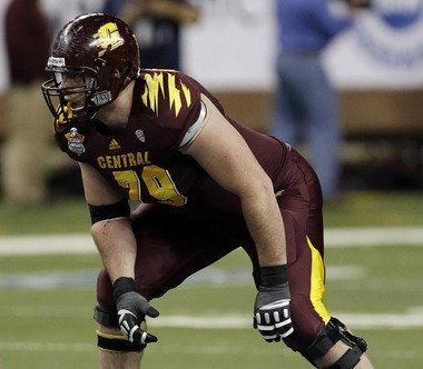 Central Michigan's Eric Fisher is expected to be one of the first players selected in Thursday's NFL Draft.