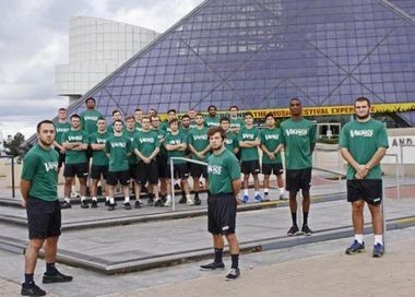 Cleveland State University's wrestling team. The university backtracked on its threat to stop funding the program after the 2015 season, following a decision to raise CSU student fees to help pay for it.