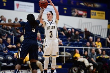 Kent State guard Larissa Lurken was named MAC women's Player of the Year. (Kent State photo).