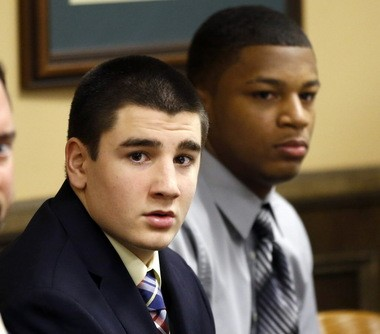 Trent Mays, left, and Ma'lik Richmond were found to be delinquent of rape in Jefferson County Juvenile Court in March.
