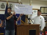 The Strongsville Rotary Foundation presented a $5,000 check to the Strongsville VFW post 3345 on Sept. 12.