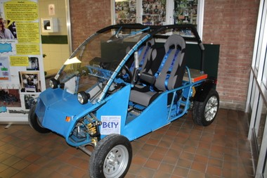 Bob Wolford hopes to excite students to pursue a career in engineering with his donation of a dune buggy.