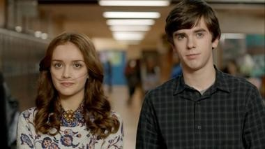 "Cooke co-stars as Emma Decody opposite Highmore's Norman Bates on A&E's hit series, ""Bates Motel."""