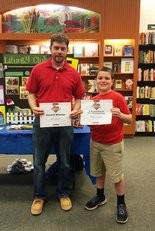 St. Brendan teacher Ryan Schlitter was nominated for the Barnes & Noble My Favorite Teacher Contest by sixth-grader Bobby Gerome. Photo courtesy of St. Brendan School.