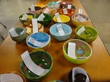 Attendees at the benefit received one of these handcrafted and painted bowls.