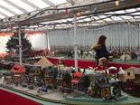 Puritas Nursery's holiday train display is running once again.