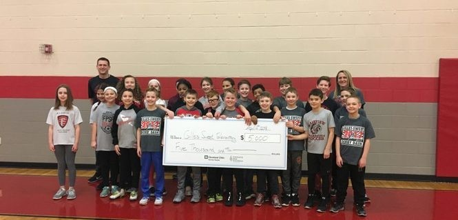 A group of Gilles-Sweet fifth-graders won first place in the 2018 Youth MOVement challenge. Photo provided by Fairview Park schools.