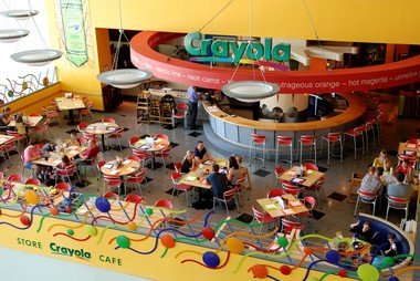 The family-friendly Crayola Cafe, inside the Crown Center Shops in Kansas City, Mo.