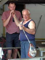 Murano, the mecca of Italian glass art, is the scene of a glassblowing competition, part of the 2013 Competitours tour through Europe.
