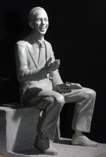 An 18-inch-tall clay model of the late actor Don Knotts is shown in 2007, at the studio of sculptor Jamie Lester in Morgantown, W.Va. The statue is to be dedicated in Morgantown in July. (AP Photo/Dale Sparks)