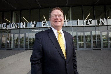 Mark Leahy, general manager of the Huntington Convention Center of Cleveland; he works for property management firm SMG, hired by Cuyahoga County in 2013 to run the center. (Lynn Ischay/The Plain Dealer)