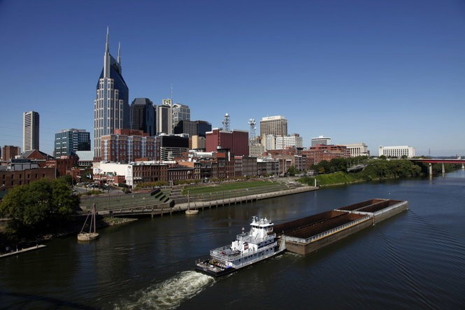 Nashville, the largest U.S. city in the path of the Great American Eclipse on Aug. 21, 2017.