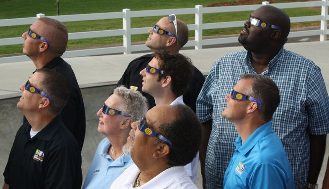Don't forget to protect your eyes when viewing the eclipse. (Photo courtesy eclipseville.com)
