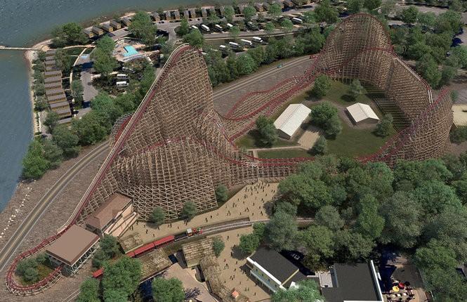 A rendering of Steel Vengeance, the new roller coaster still under construction at Cedar Point. (Courtesy Cedar Point)