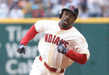 Michael Bourn's stolen bases are way down in his first year with the Indians and in the American League.