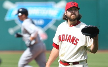 Chris Perez has tendinitis in his right rotator cuff. He will not throw a baseball for the next five to seven days.
