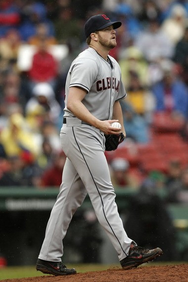 Indians reliever Vinnie Pestano had a rough outing in Boston on Saturday.