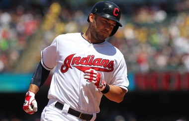 Ryan Raburn rounds the bases after one of his 13 homers in 184 at-bats this season.