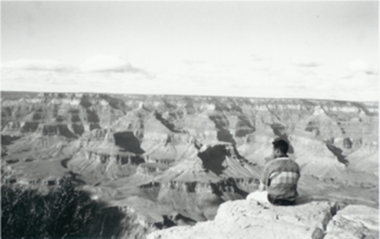 Stephen Reich admires the Grand Canyon.