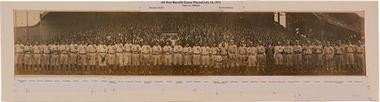 This panoramic photograph from 1911 is up for auction. Cleveland played a team of All Stars in a benefit for the widow of Addie Joss.
