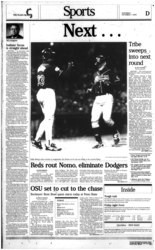 Plain Dealer coverage following Game 3 of the 1995 American League Division Series between the Cleveland Indians and the Boston Red Sox.