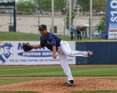 Lake County Captains pitcher and Cleveland Indians prospect Justus Sheffield in 2015. (Tim Phillis / TCP Photography)