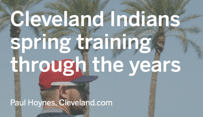 wholesale dealer 9c38f 59706 Cleveland Indians spring training through the years in ...