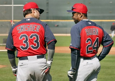 Nick Swisher and Michael Bourn, forever linked in Indians' lore.