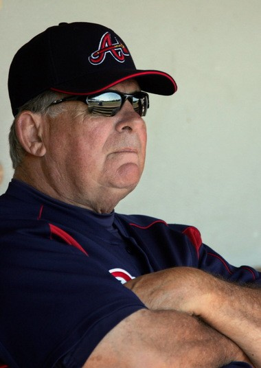 Bobby Cox managed the Braves for a total of 25 years.