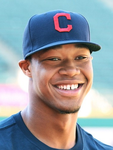 Cleveland Indians number 1 draft pick in the 2016 draft Will Benson, on the field before the game against the Chicago White Sox at Progressive Field in Cleveland, Ohio on June 17, 2016.
