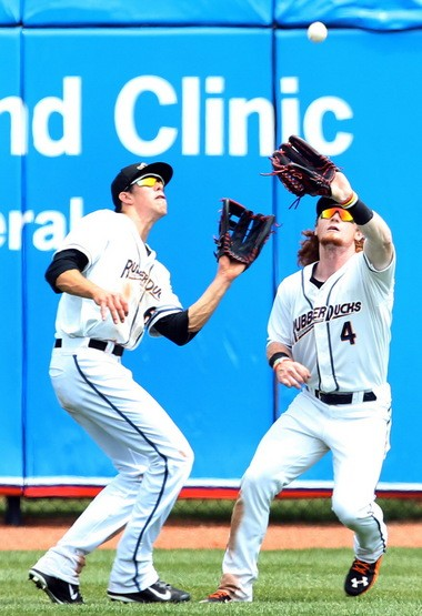Clint Frazier and Bradley Zimmer will share the outfield in Columbus after doing so in Akron.