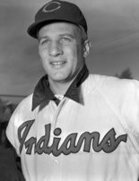 Cleveland Indians third-baseman Al Rosen at training camp in 1953, before the start of a season that is considered among the greatest ever by a player who is not in baseball's Hall of Fame.