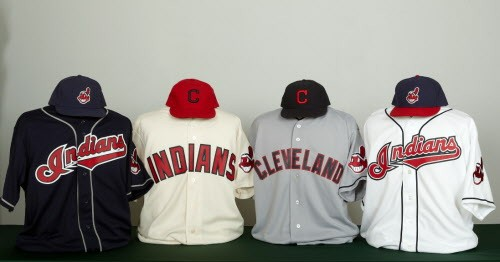 The Indians updated their uniforms in 2011.