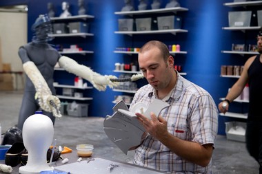 """Frank Ippolito, a special effects artist from Cleveland, is one of the contestants on the fifth season of Syfy's """"Face Off."""""""