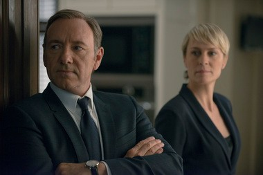 """Kevin Spacey and Robin Wright return as the ever-scheming Underwoods in the second season of Netflix's """"House of Cards."""""""